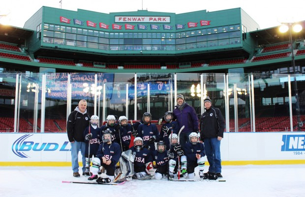 Franklin County 8-Year-Olds Play Hockey. At FENWAY PARK?