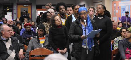 Amherst Vigil Supports Black Math Teacher
