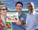 Richard-Michelson-S-is-for-Seaglass-at-the-beach-Obama-and-Hillary