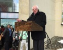 Bernie at the UMass Fine Arts Center. Photo courtesy of WHMP Stephanie Slysz